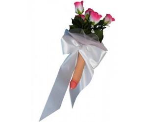 Bouquet con fiocco e scatola
